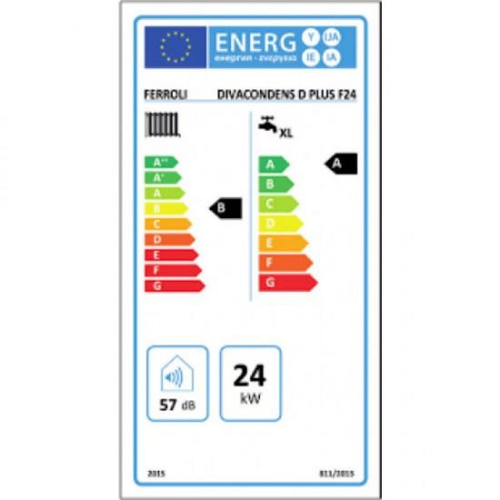 Ferroli DivaCondens D Plus 24 Επίτοιχος λέβητας αερίου συμπύκνωσης (Δώρο καμινάδα) 24kW (3 άτοκες δόσεις)